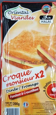 Croque Monsieur Dinde / Fromage *2 - Product