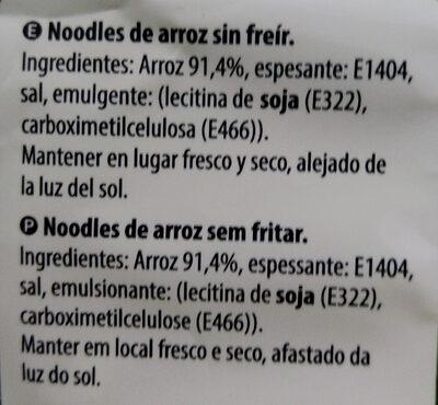 Noodles de arroz - Ingrédients - es