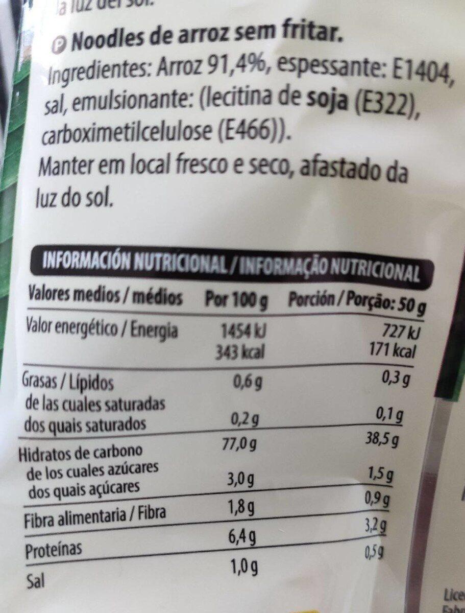 Noodle's de Arroz - Voedingswaarden - es