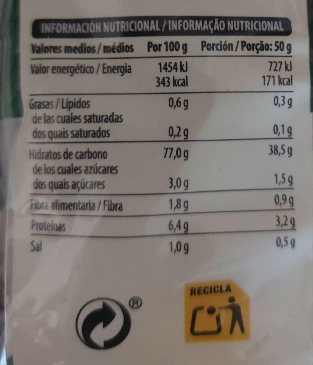 Noodles de arroz - Nutrition facts - es