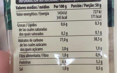 Noodles de arroz - Informations nutritionnelles - es