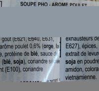 Oh!Ricey  pho - Ingrediënten - fr