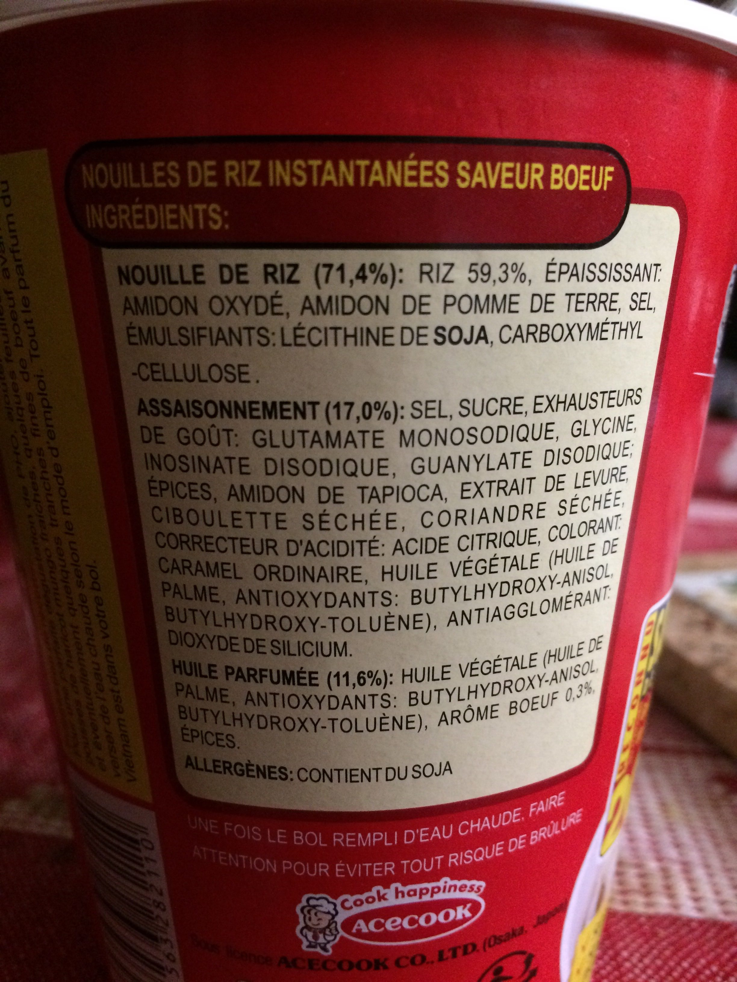 Soupe phó boeuf - Ingrediënten - fr