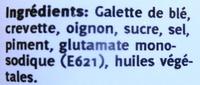 Nems apéritifs aux crevettes - Ingredients - fr