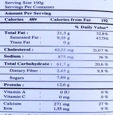 Nems apéritifs aux crevettes - Nutrition facts - fr