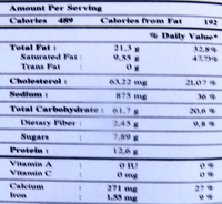 Nems apéritifs aux crevettes & à l'ail - Nutrition facts - fr