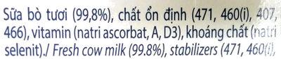 100 % fresh milk - Thành phần - vi