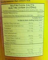 Potato crisps barbecue flavor - Giá trị dinh dưỡng - fr