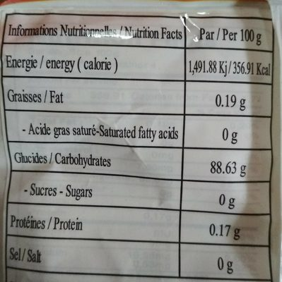 Farine pour ravioli crevette - Voedingswaarden - fr