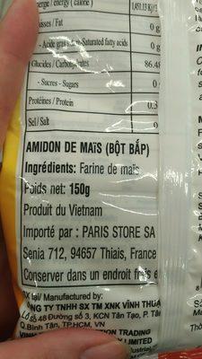 Bot bap - Ingredienti - fr