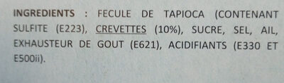 Crevettes chinoises - Ingredientes - fr