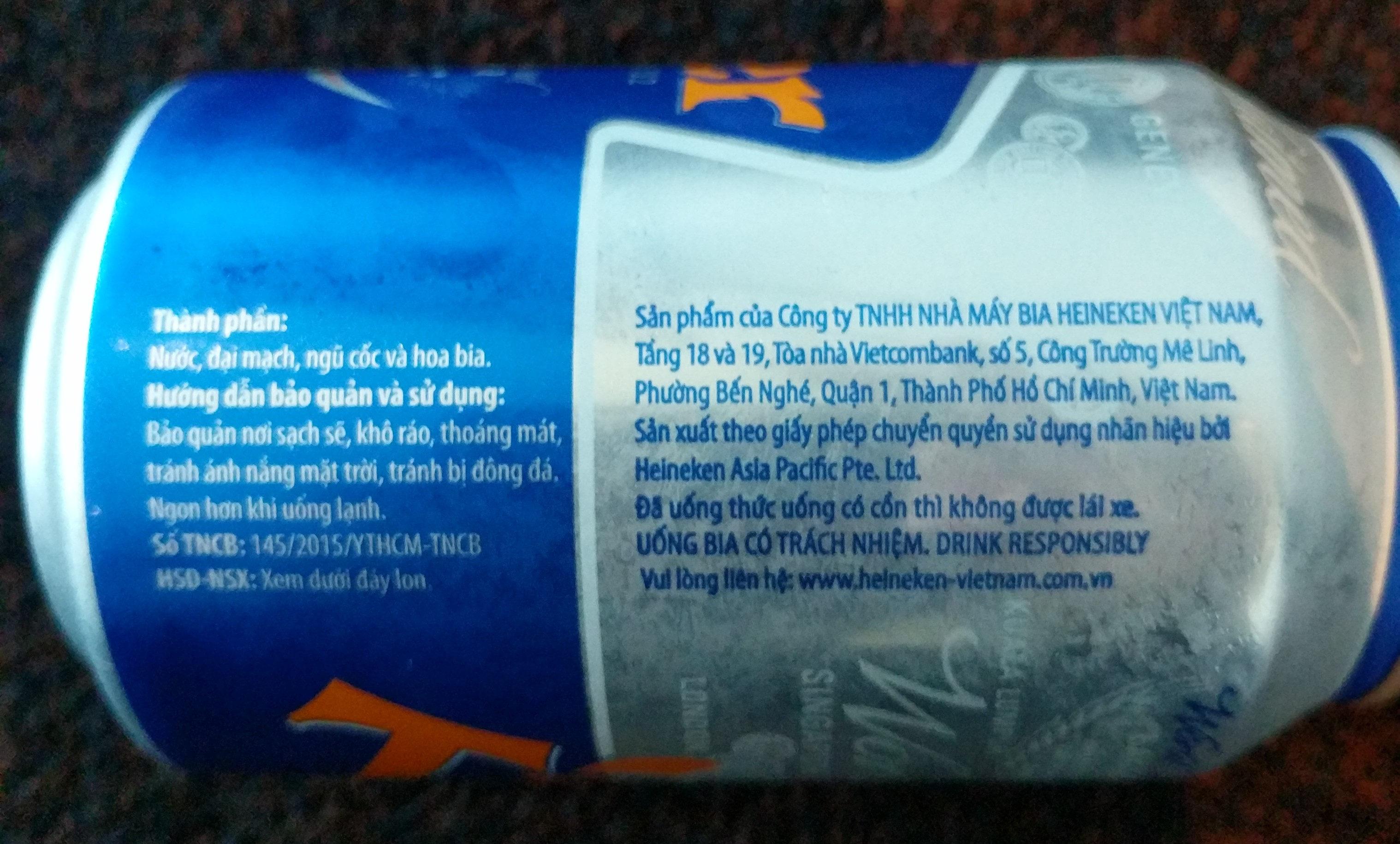 Tiger-beer-330ml-vietnam - Thành phần - vi