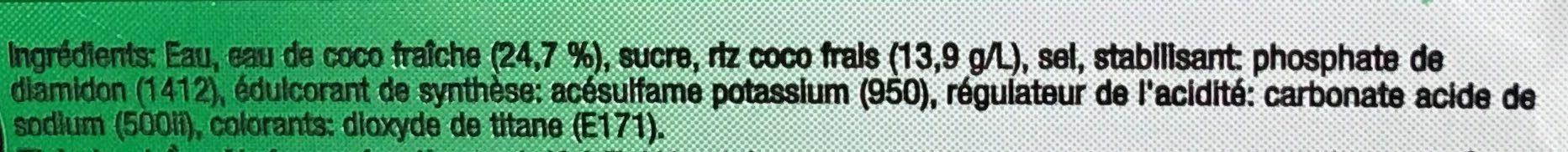 eau de coco avec pulpe - Ingredients