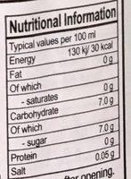 eau de coco avec pulpe - Nutrition facts