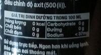 Soda Water - Giá trị dinh dưỡng - fr