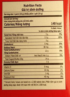 Choco Pie - Giá trị dinh dưỡng - en