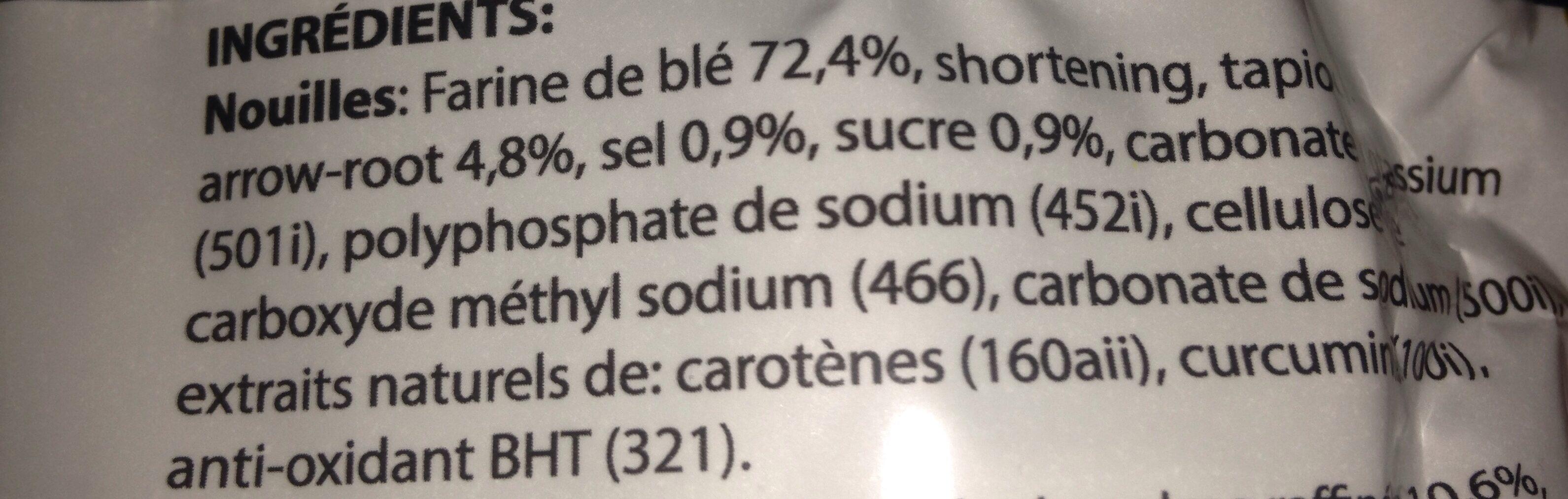 Nouilles Chinoises (Haricots Mungo) (Cellophane ou de Riz Long) - Ingrediënten
