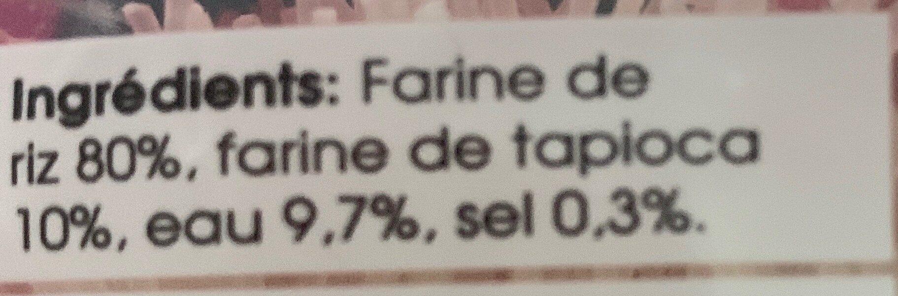 Vericelle de riz bún - Ingrediënten