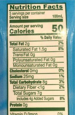 Vietcoco Organic - Giá trị dinh dưỡng - fr