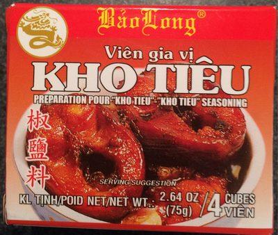 calorie Préparation pour Kho Tiêu