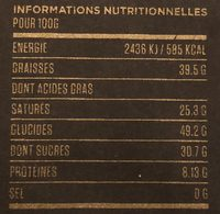 Marou Chocolate Tien Giang Noir 70% - Voedingswaarden