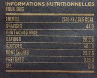 Tien Giang 80% Single Origin Vietnam Dark Chocolate - Nutrition facts