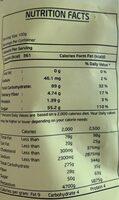 Dried mango - Giá trị dinh dưỡng - fr