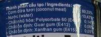 coconut cream - Thành phần - en