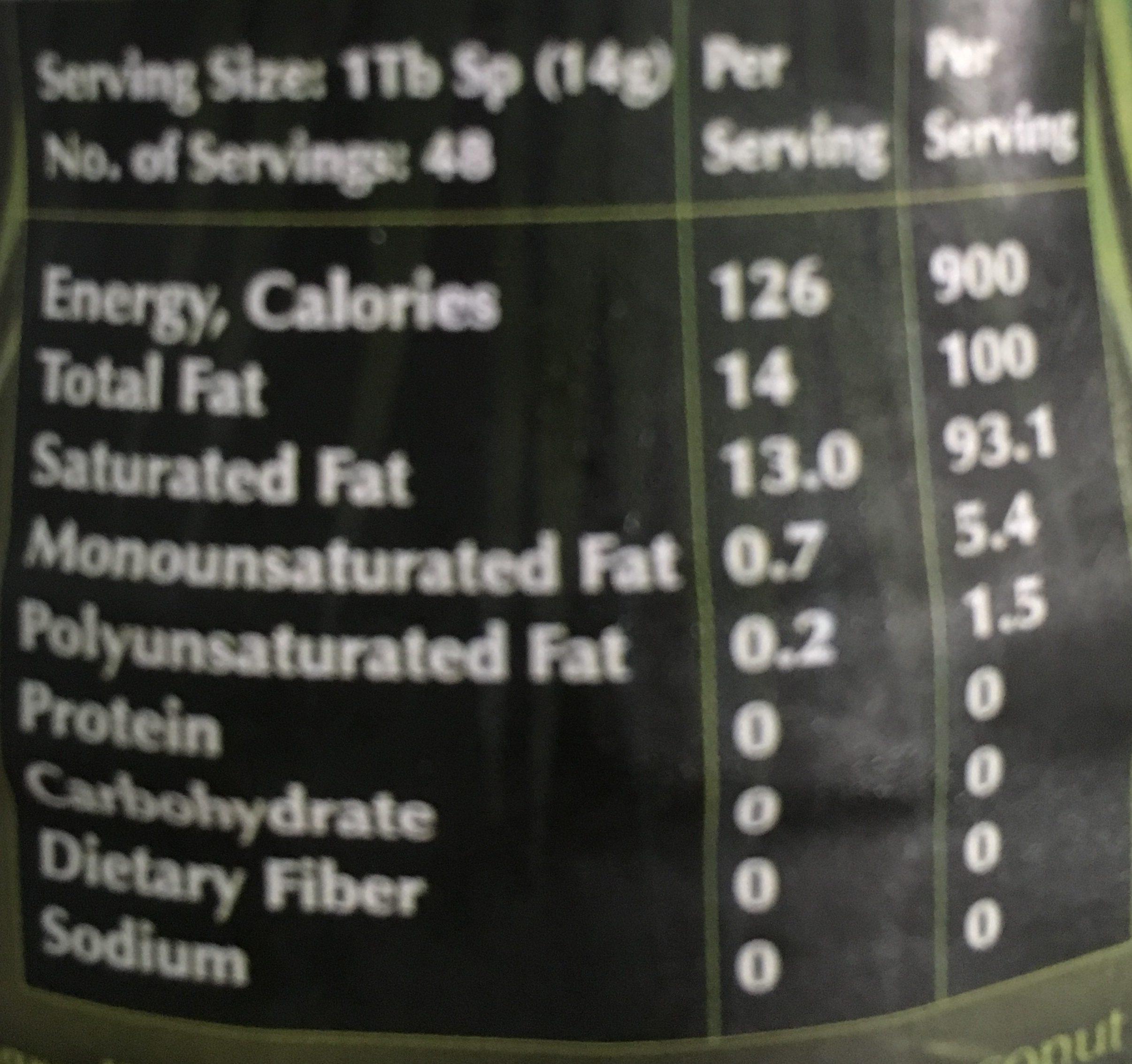 Hemani Coconut Oil Pure & Natural (400ML) - المكونات - fr