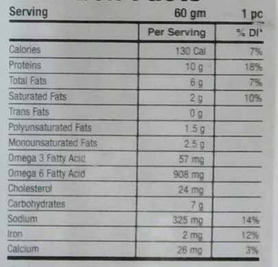 Classic Burger Patties - Nutrition facts