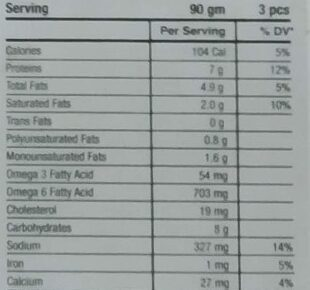 Chicken Veggie Rolls - Nutrition facts - en
