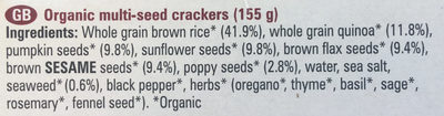 multi-seed crackers - Ingredients - en