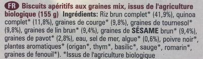 multi-seed crackers - Ingrédients - fr