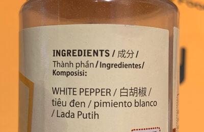 white pepper powder - Ingrediënten