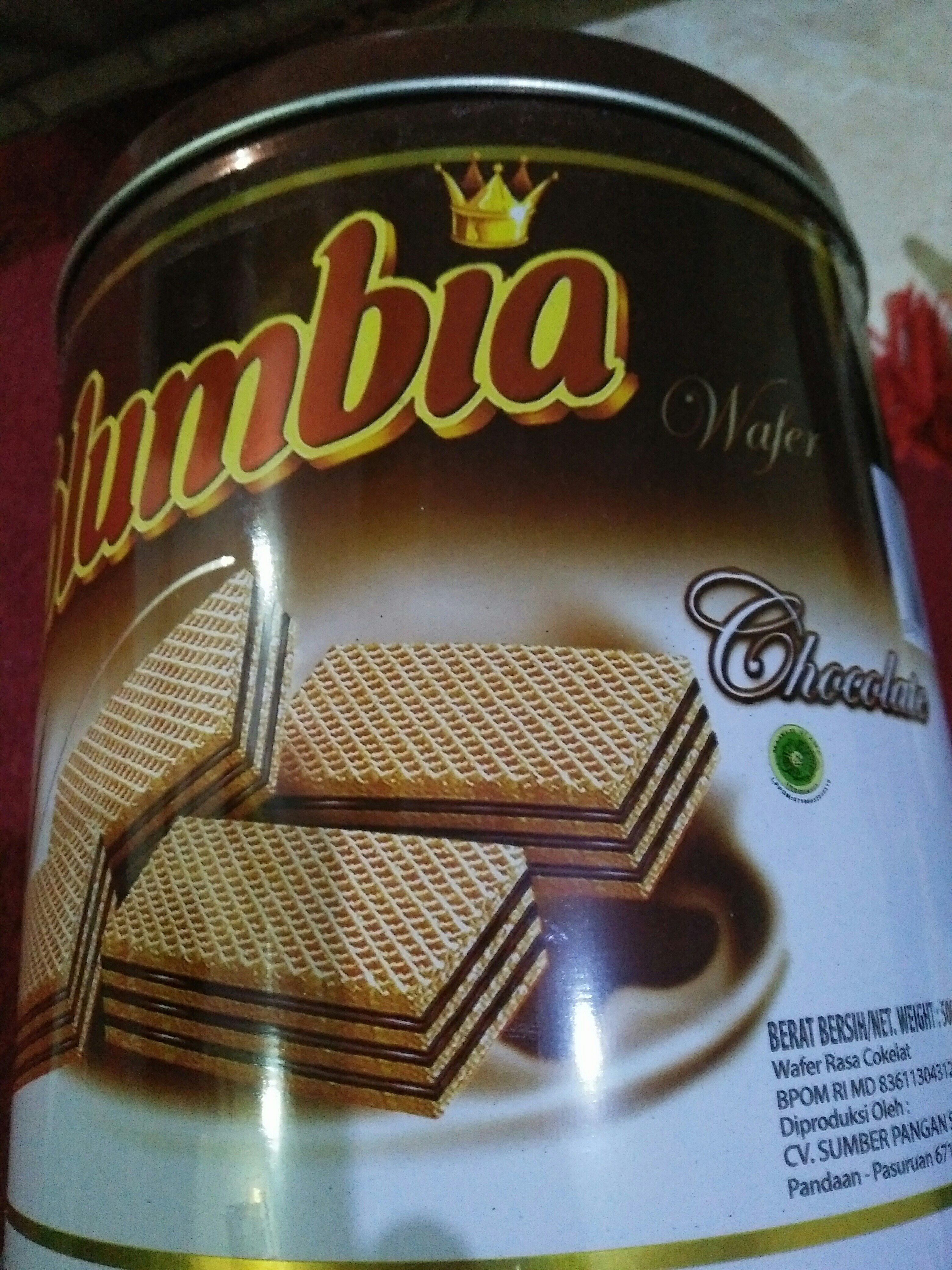 Wafer Chocolate - Bahan - en