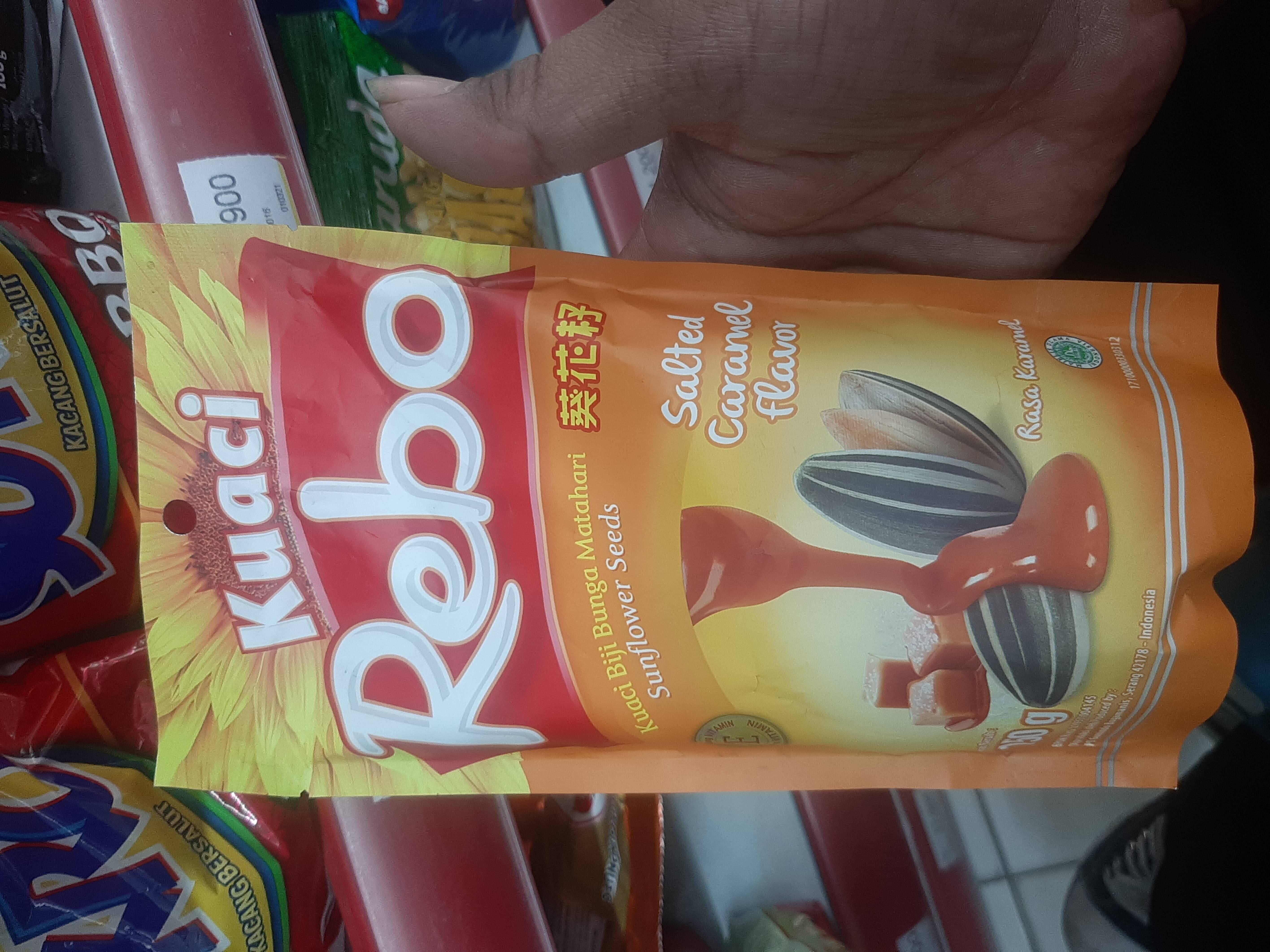 Rebo Kuaci Caramel 150Gr - Produk - id