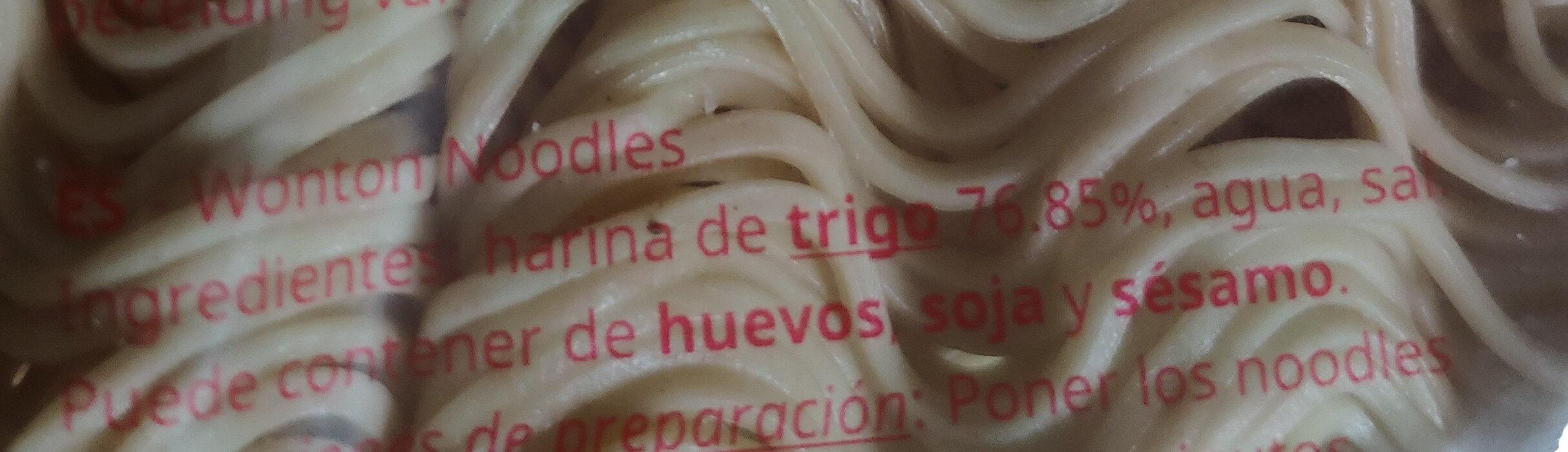 Mie Kering Asli Wonton Noodles - Ingredientes - es