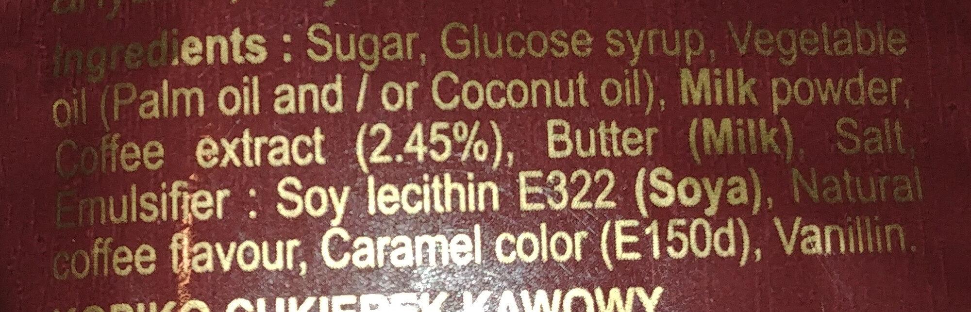 Cukierek kawowy - Ingredients