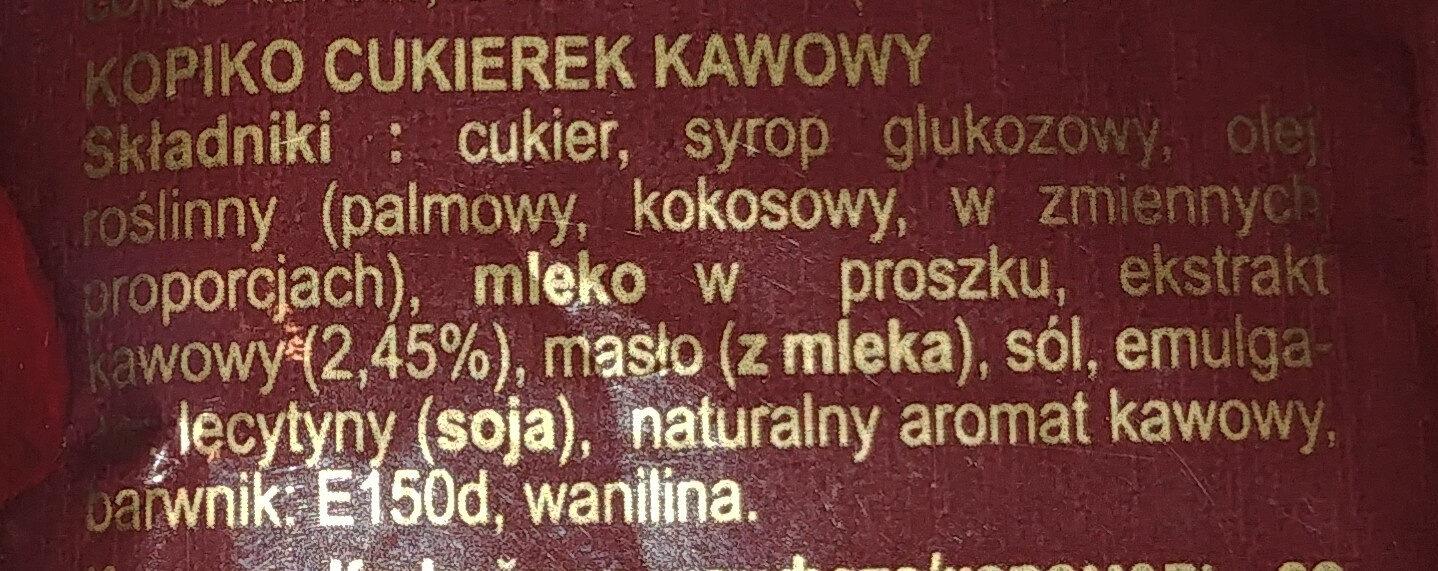 Cukierek kawowy - Składniki - pl