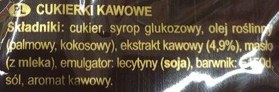 Strong & rich coffee candy - Składniki - pl