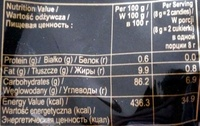 Strong & rich coffee candy - Nutrition facts