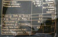 Strong & rich coffee candy - Wartości odżywcze - pl