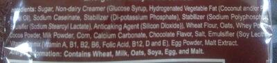 Energen chocolate - Ingredients