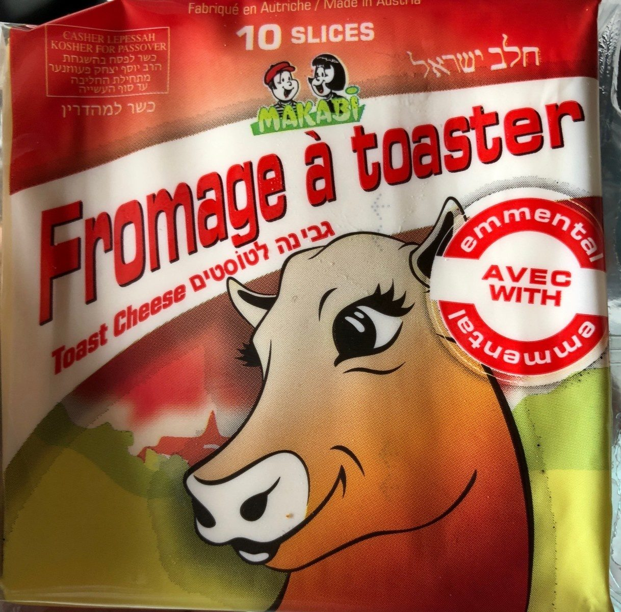 10 Slices Toast Cheese - Emmental Taste - Product - fr