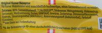 Original Mayonnaise - Ingrédients - de