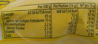 Original Mayonnaise - Informations nutritionnelles - de