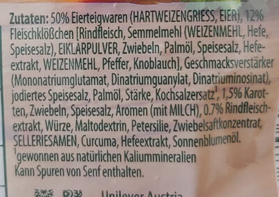 Fleischklößchensuppe - Ingredients
