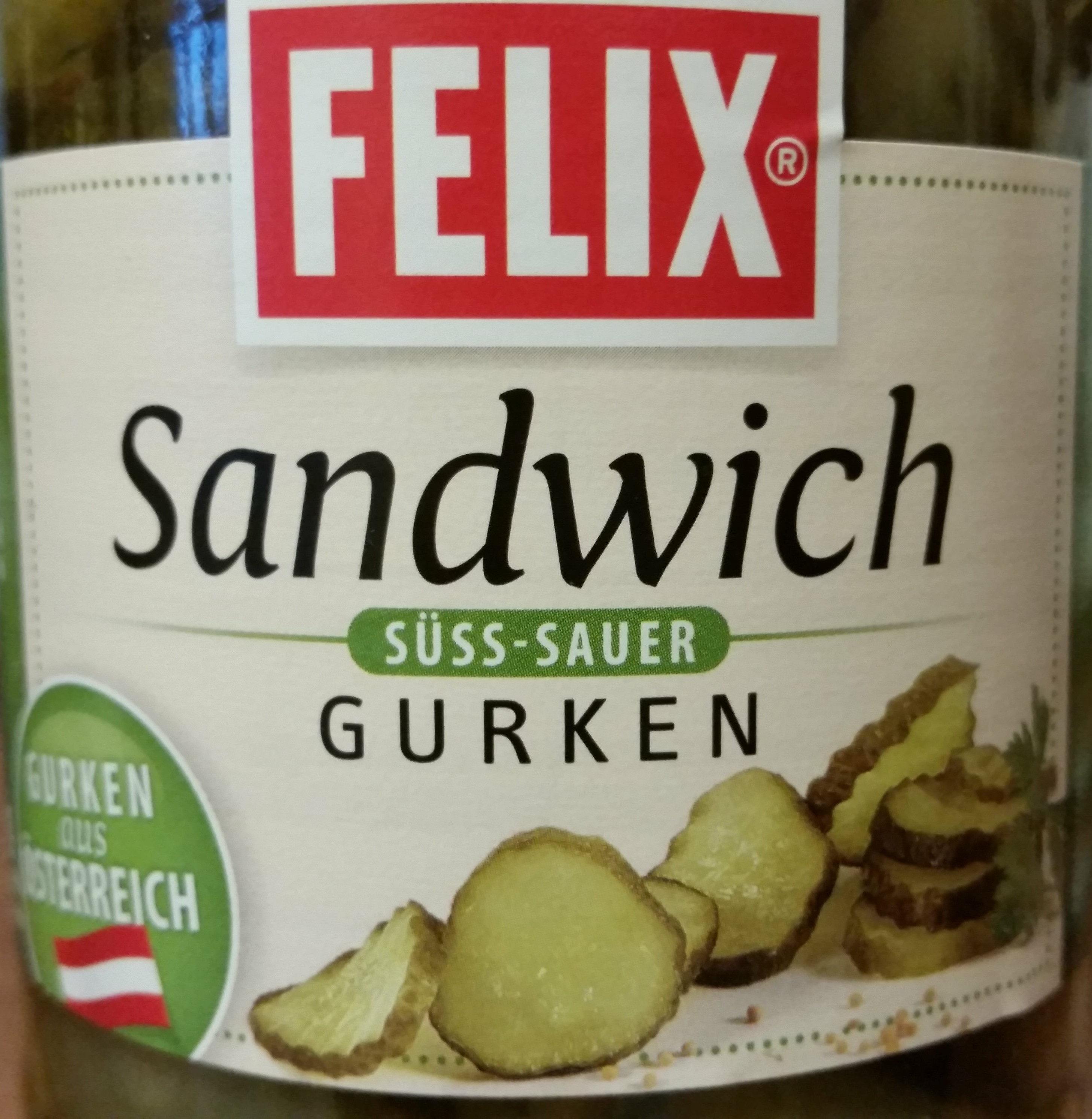 Sandwich Gurken süss-sauer - Product
