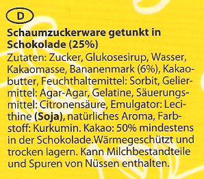 Schoko-Bananen - Zutaten - de