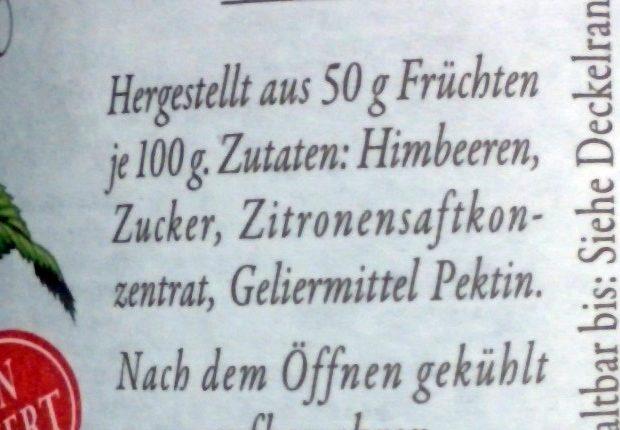 Feinste Himbeeren - Ingredients